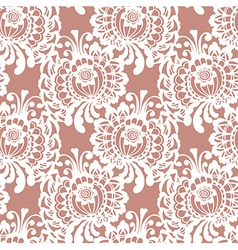 Lace fabric seamless pattern vector image