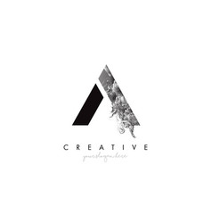 Letter a logo design icon with artistic grunge vector