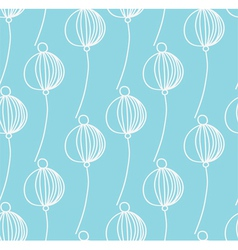 light blue decoration floral pattern vector image