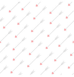 Love arrows seamless pattern vector