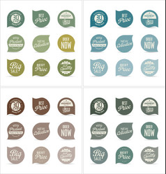 modern badges collection 5 vector image