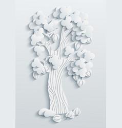 modern volumetric tree vector image