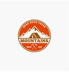 Mountains logo-badge-13 vector