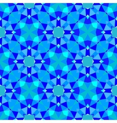 Multicolor geometric pattern in bright blue vector