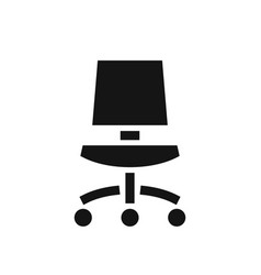office chair black simple icon vector image