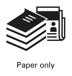 paper only icon simple style vector image
