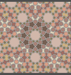 Pattern in authentic arabian style girih vector