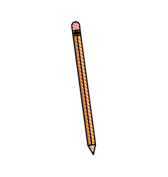 Pencil writing wood utensil vector