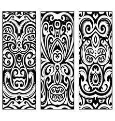 Polynesian ethnic style ornaments vector