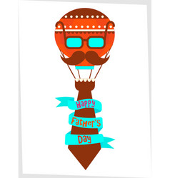 poster happy fathers day greetings vector image