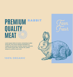 Premium quality rabbit abstract meat vector