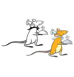 Rat waiter vector