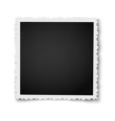 Retro realistic square photo frame vector