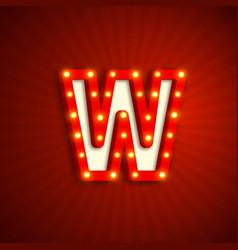 Retro style letter w vector