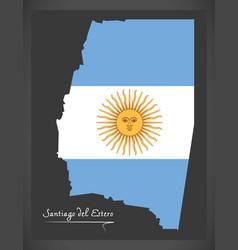 Santiago del estero map of argentina with vector