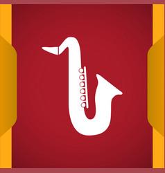 Saxophone icon vector