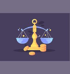 scales icon creative economy and vector image