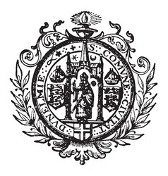 Seal for the civil corporation of durham vector