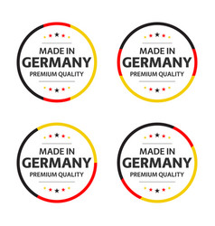set four german icons english title vector image