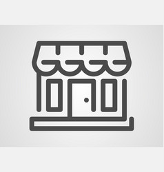 shop icon sign symbol vector image