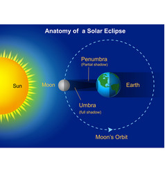 Solar eclipse diagram vector
