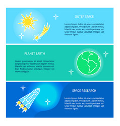 space theme flyer templates with place for text vector image