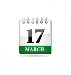 st patrick day calendar vector image