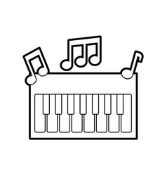 synthesizer note music electronic instrument vector image