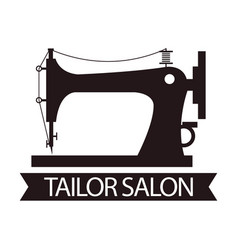 tailor salon advertising logo vector image