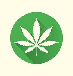 cannabis marijuana flat design icon vector image vector image