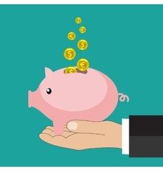 Flat saving money concept background vector