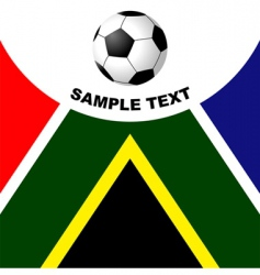 south Africa soccer vector image vector image