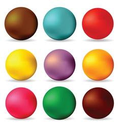 spheres vector image vector image
