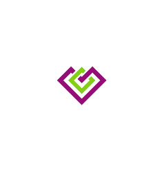 square geometry construction company logo vector image vector image