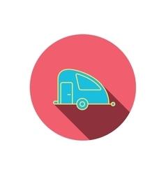 Travel van icon Holiday camper sign vector image