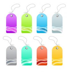 waved lined art retail tags vector image vector image
