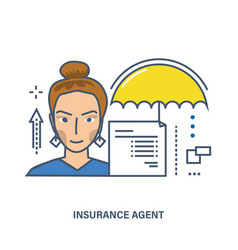 Concept of insurance agent vector