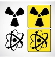 Grunge radioactive symbol vector image vector image