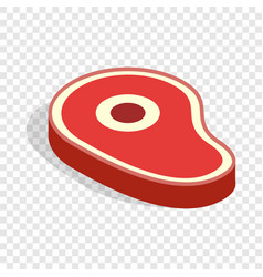 meat isometric icon vector image vector image