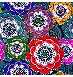 Seamless pattern with abstract flowers EPS 10 vector image vector image