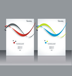 set ofbanners with colorful smooth futuristic vector image vector image