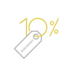 ten percent discount logo vector image vector image