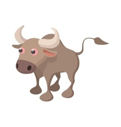 Bull icon cartoon style vector image vector image