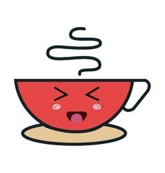 coffee cup kawaii style vector image