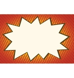 Explosion comics bubble on orange background vector image