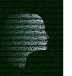 head vector image vector image