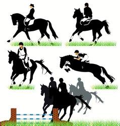 jockeys set02 vector image vector image