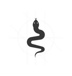 snake iconsatan symbol vector image