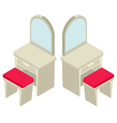 3d design for mirror and seat vector image