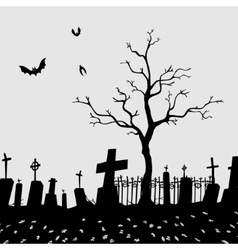 Cemetery Silhouette vector image